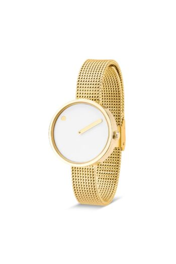 WATCH PICTO/43320-0912/30mm/WHITE DIAL-POLISHED GOLD CASE/GOLD MESH BAND