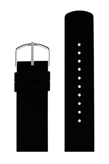 ΜΠΡΑΣΕΛΕ PICTO/0120S/40mm/BLACK SILICONE STRAP-POLISHED STEEL BUCKLE/WIDTH 20mm