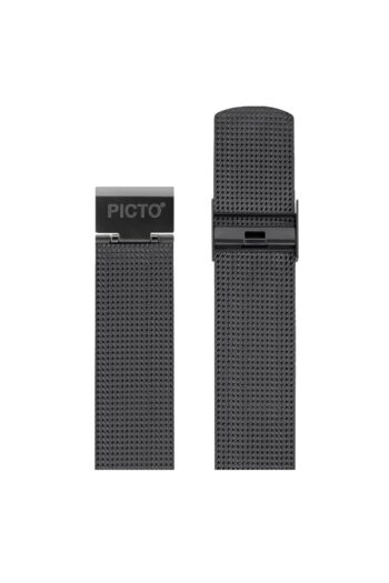 ΜΠΡΑΣΕΛΕ PICTO/1220/40mm/MATT IP GREY STEEL MESH BAND/WIDTH 20mm
