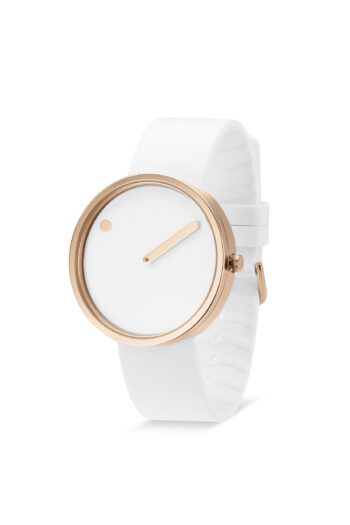 WATCH PICTO/43383-0220R/40mm/WHITE DIAL- POLISHED ROSE GOLD CASE/WHITE SILICONE STRAP