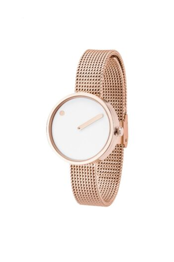 WATCH PICTO/43381-1112/30mm/WHITE DIAL-ROSE GOLD CASE/ROSE GOLD MESH BAND