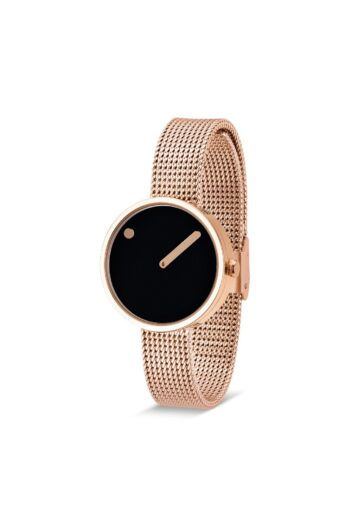 WATCH PICTO/43311-1112/30mm/BLACK DIAL-ROSE GOLD CASE/ROSE GOLD MESH BAND