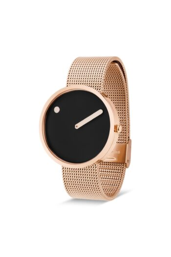 WATCH PICTO/43312-1120/40mm/BLACK DIAL-ROSE GOLD CASE/ROSE GOLD MESH BAND