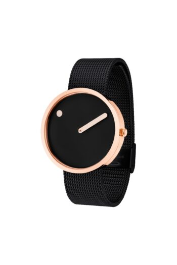 WATCH PICTO/43312-1020/40mm/BLACK DIAL-ROSE GOLD CASE/BLACK MESH BAND