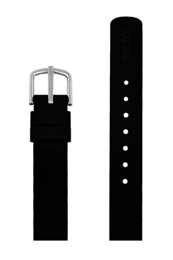 ΜΠΡΑΣΕΛΕ PICTO/0112S/30mm/BLACK SILICONE STRAP-POLISHED STEEL BUCKLE/WIDTH 12mm