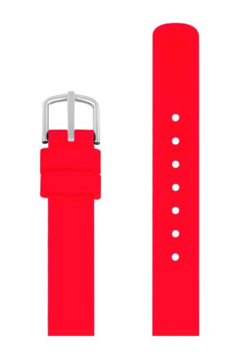 ΜΠΡΑΣΕΛΕ PICTO/0312S/30mm/RED SILICONE STRAP-POLISHED STEEL BUCKLE/WIDTH 12mm