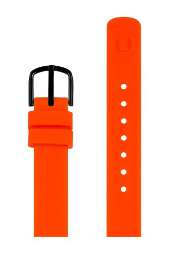 ΜΠΡΑΣΕΛΕ PICTO/0612B/30mm/ORANGE SILICONE STRAP-POLISHED BLACK BUCKLE/WIDTH 12mm