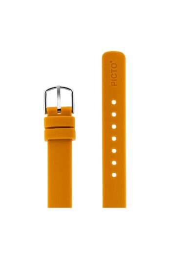 ΜΠΡΑΣΕΛΕ PICTO/0712S/30mm/MUSTARD SILICONE STRAP-POLISHED STEEL BUCKLE/WIDTH 12mm