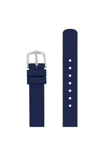 ΜΠΡΑΣΕΛΕ PICTO/0512S/30mm/NAVY BLUE SILICONE STRAP-POLISHED STEEL BUCKLE/WIDTH 12mm