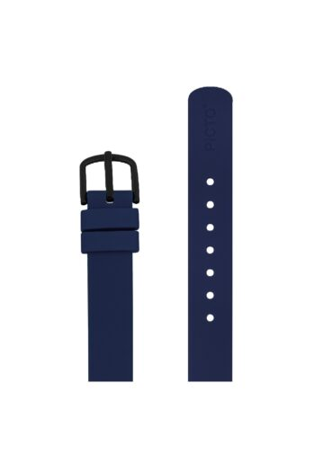 ΜΠΡΑΣΕΛΕ PICTO/0512B/30mm/NAVY BLUE SILICONE STRAP-POLISHED BLACK BUCKLE/WIDTH 12mm