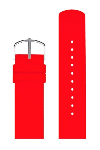 ΜΠΡΑΣΕΛΕ PICTO/0220S/40mm/RED SILICONE STRAP-POLISHED STEEL BUCKLE /WIDTH 20mm
