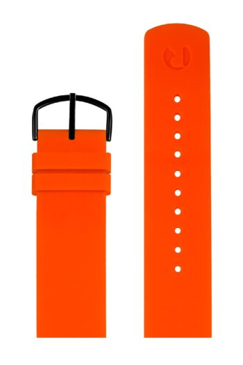 ΜΠΡΑΣΕΛΕ PICTO/0620B/40mm/ORANGE SILICONE STRAP-POLISHED BLACK BUCKLE/WIDTH 20mm