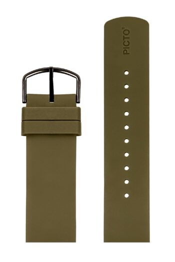 ΜΠΡΑΣΕΛΕ PICTO/3020LG/40mm/ARMY GREEN SILICONE STRAP-POLISHED REY BUCKLE /WIDTH 20mm