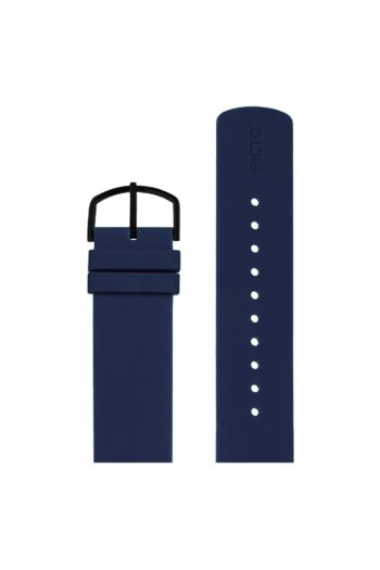 ΜΠΡΑΣΕΛΕ PICTO/0520B/40mm/NAVY BLUE SILICONE STRAP-POLISHED BLACK BUCKLE/WIDTH 20mm