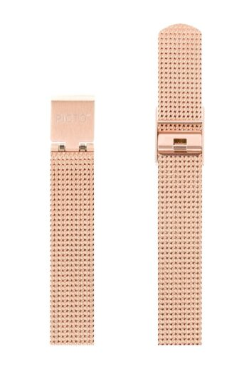 ΜΠΡΑΣΕΛΕ PICTO/1112/30mm/MATT IP ROSE GOLD STEEL MESH BAND/WIDTH 12mm