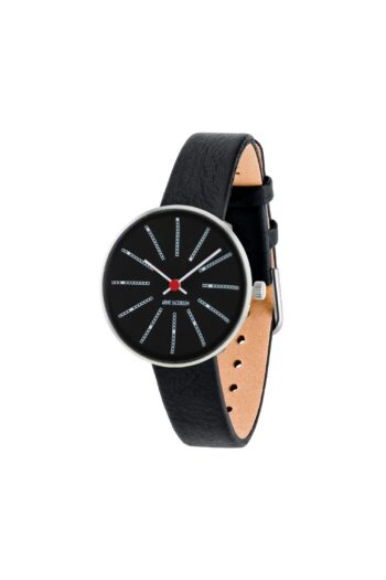 WATCH AJ/BANKERS/53116-1401/30mm/BLACK DIAL- STAINLESS STEEL CASE/BLACK LEATHER STRAP