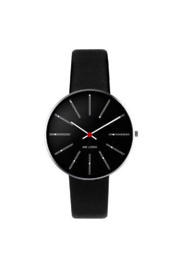 WATCH AJ/BANKERS/53104-1601/34mm/BLACK DIAL- STAINLESS STEEL CASE/BLACK LEATHER STRAP