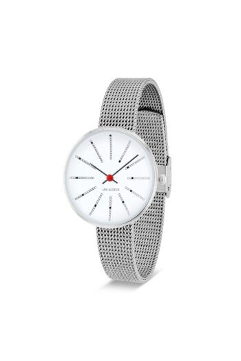 WATCH AJ/BANKERS/53100-1408/30mm/WHITE DIAL- STAINLESS STEEL CASE/STEEL MESH BAND