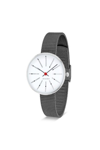WATCH AJ/BANKERS/53100-1412/30mm/WHITE DIAL- STAINLESS STEEL CASE/GREY BRUSHED MESH BAND