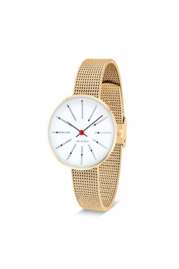 WATCH AJ/BANKERS/53113-1409/30mm/WHITE DIAL-IP GOLD BRUSHED CASE/GOLD BRUSHED MESH BAND