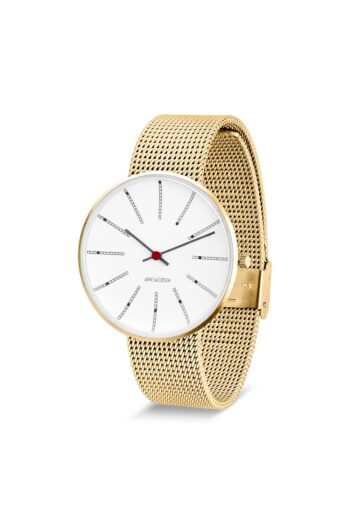 WATCH AJ/BANKERS/53108-2009/40mm/WHITE DIAL- IP GOLD BRUSHED CASE /GOLD BRUSHED MESH BAND