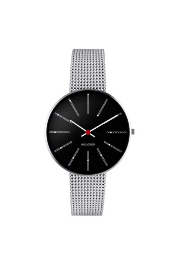 WATCH AJ/BANKERS/53104-1608/34mm/BLACK DIAL- BRUSHED STEEL CASE/STEEL MESH BAND