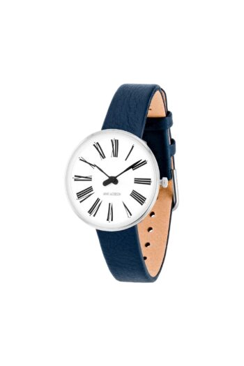 WATCH AJ/ROMAN/53300-1404/30mm/WHITE DIAL- STAINLESS STEEL CASE/NAVY BLUE LEATHER STRAP