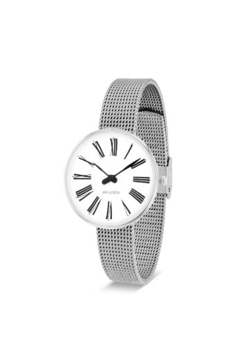 WATCH AJ/ROMAN/53300-1408/30mm/WHITE DIAL- STAINLESS STEEL CASE/STEEL MESH BAND
