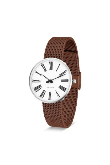 WATCH AJ/ROMAN/53301-1613/34mm/WHITE DIAL- STAINLESS STEEL CASE/COPPER BRUSHED MESH BAND