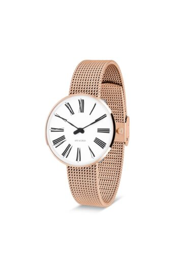 WATCH AJ/ROMAN/53311-1611/34mm/WHITE DIAL-IP ROSE GOLD POLISHED CASE/ROSE GOLD MESH BAND
