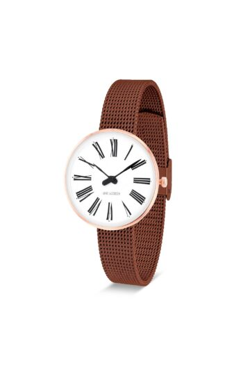 WATCH AJ/ROMAN/53315-1413/30mm/WHITE DIAL-IP ROSE GOLD POLISHED CASE/COPPER MESH BAND