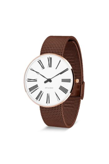 WATCH AJ/ROMAN/53312-2013/40mm/WHITE DIAL-IP ROSE GOLD POLISHED CASE/COPPER MESH BAND