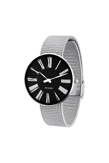 WATCH AJ/ROMAN/53305-2008/40mm/BLACK DIAL- STAINLESS STEEL CASE/STEEL MESH BAND