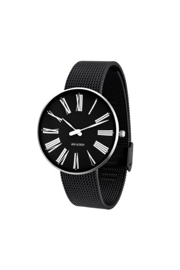 WATCH AJ/ROMAN/53305-2010/40mm/BLACK DIAL- STAINLESS STEEL CASE/BLACK MESH BAND