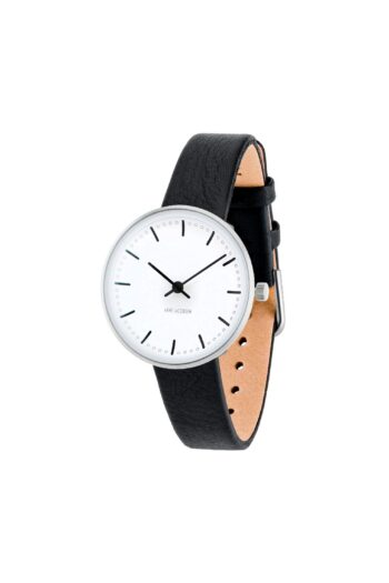 WATCH AJ/CITY HALL/53200-1401/30mm/WHITE DIAL- STAINLESS STEEL CASE/BLACK LEATHER STRAP