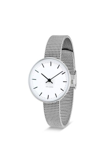 WATCH AJ/CITY HALL/53200-1408/30mm/WHITE DIAL- STAINLESS STEEL CASE/STEEL MESH BAND