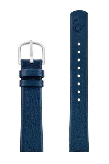 ΛΟΥΡΑΚΙ AJ/1604/34mm/NAVY BLUE LEATHER STRAP-STAINLESS STEEL BUCKLE/WIDTH 16mm