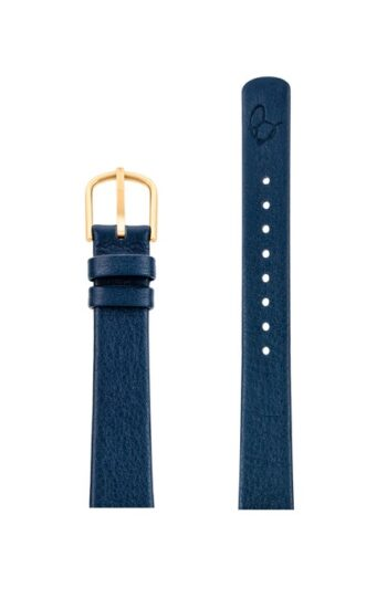 ΛΟΥΡΑΚΙ AJ/1404G/30mm/NAVY BLUE LEATHER STRAP-GOLD BRUSHED BUCKLE/WIDTH 14mm
