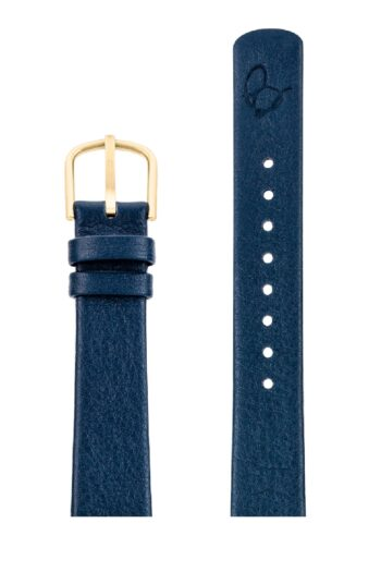 ΛΟΥΡΑΚΙ AJ/1604G/34mm/NAVY BLUE LEATHER STRAP-GOLD BRUSHED BUCKLE/WIDTH 16mm