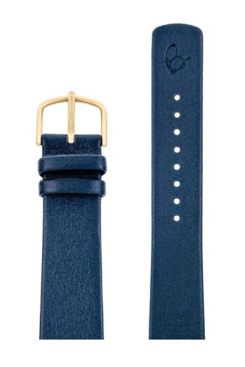 ΛΟΥΡΑΚΙ AJ/2004G/40mm/NAVY BLUE LEATHER STRAP-GOLD BRUSHED BUCKLE/WIDTH 20mm