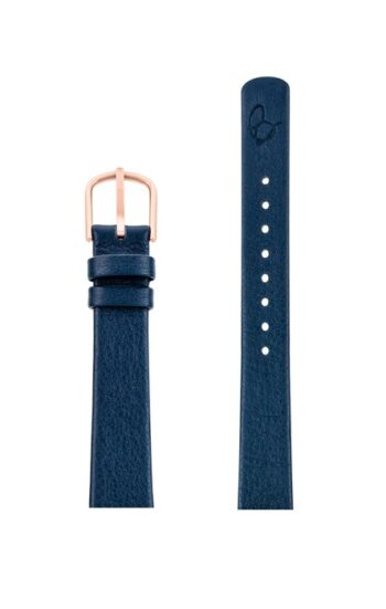 ΛΟΥΡΑΚΙ AJ/1404RP/30mm/NAVY BLUE LEATHER STRAP-RED GOLD POLISHED BUCKLE/WIDTH 14mm