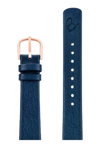 ΛΟΥΡΑΚΙ AJ/1604RP/34mm/NAVY BLUE LEATHER STRAP-RED GOLD POLISHED BUCKLE/WIDTH 16mm