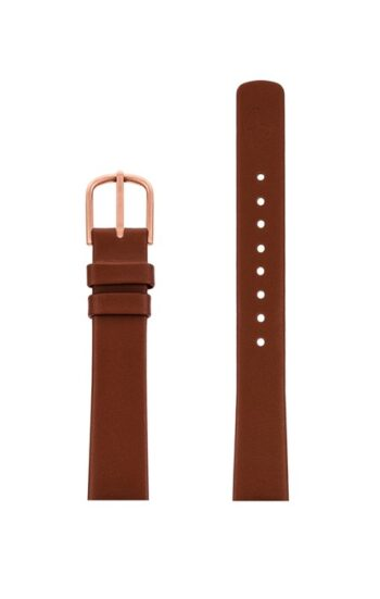 ΛΟΥΡΑΚΙ AJ/1407RP/30mm/BROWN LEATHER STRAP-RED GOLD POLISHED BUCKLE/WIDTH 14mm