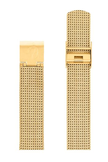 ΜΠΡΑΣΕΛΕ AJ/1609/34mm/GOLD BRUSHED MESH BAND-GOLD BRUSHED STEEL BUCKLE/WIDTH 16mm