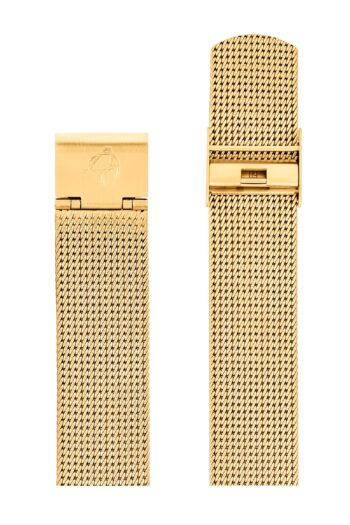 ΜΠΡΑΣΕΛΕ AJ/2009/40mm/GOLD BRUSHED MESH BAND-GOLD BRUSHED STEEL BUCKLE/WIDTH 16mm