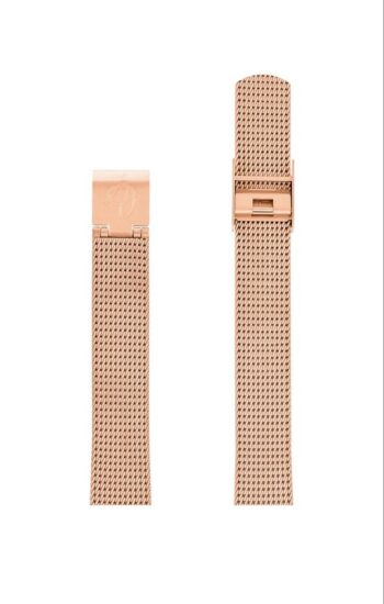 ΜΠΡΑΣΕΛΕ AJ/1411/30mm/ROSE GOLD BRUSHED MESH BAND-STAINLESS STEEL ROSE GOLD BRUSHED BUCKLE/WIDTH 14mm