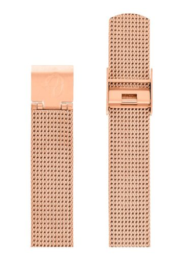 ΜΠΡΑΣΕΛΕ AJ/1611/34mm/ROSE GOLD BRUSHED MESH BAND-STAINLESS STEEL ROSE GOLD BRUSHED BUCKLE/WIDTH 16mm