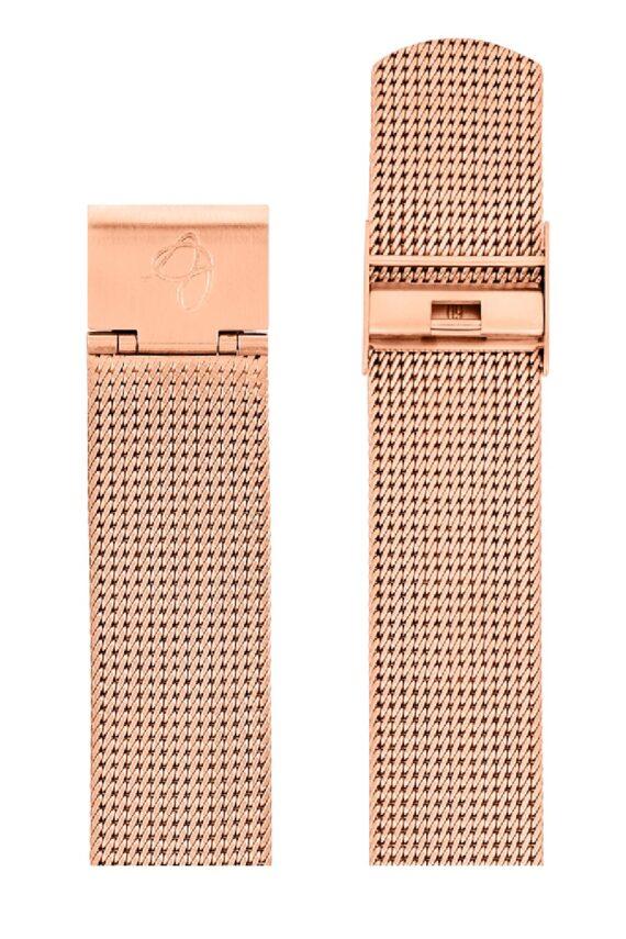 ΜΠΡΑΣΕΛΕ AJ/2011/40mm/ROSE GOLD BRUSHED MESH BAND-STAINLESS STEEL ROSE GOLD BRUSHED BUCKLE/WIDTH 20mm