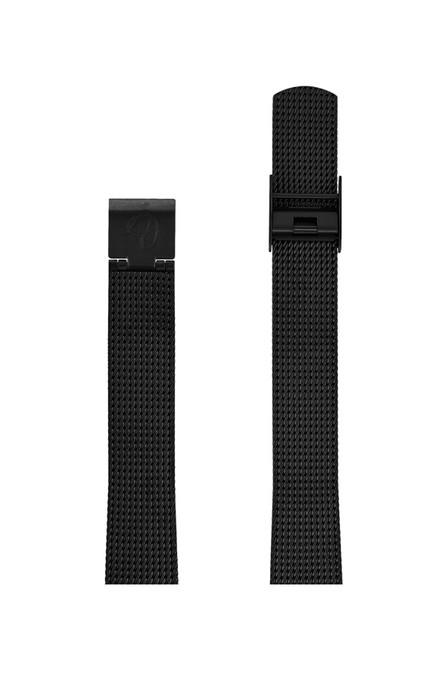 ΜΠΡΑΣΕΛΕ AJ/1410/30mm/BLACK BRUSHED MESH BAND-STAINLESS STEEL BLACK BRUSHED BUCKLE/WIDTH 14mm