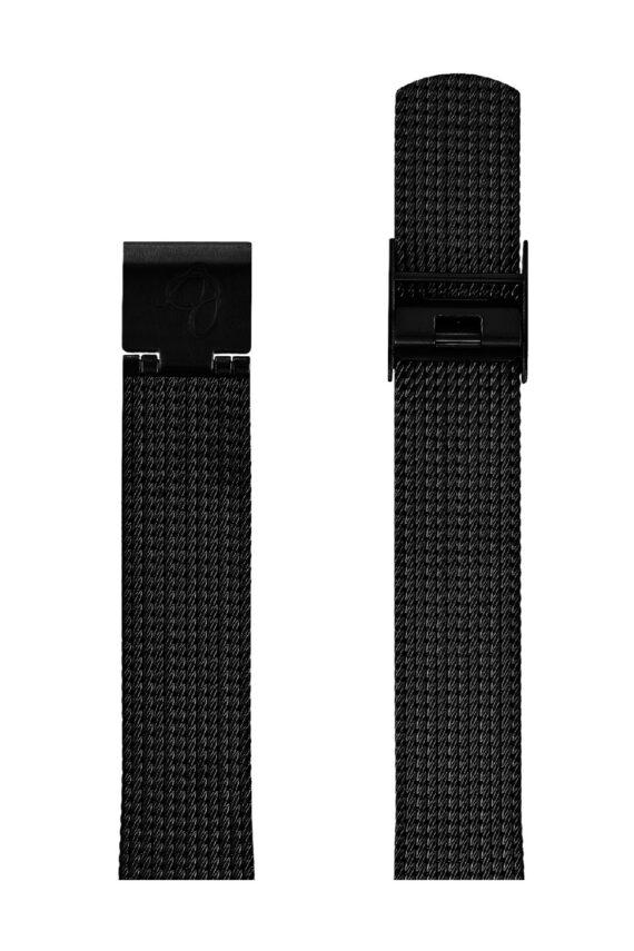 ΜΠΡΑΣΕΛΕ AJ/1610/34mm/BLACK BRUSHED MESH BAND-STAINLESS STEEL BLACK BRUSHED BUCKLE/WIDTH 16mm